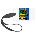 Grand Prix Auto Racing Print Large Luggage Tag