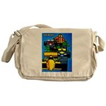 Grand Prix Auto Racing Print Messenger Bag