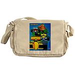 Grand Prix Auto Racing Print Messenger Bag