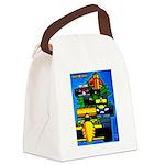 Grand Prix Auto Racing Print Canvas Lunch Bag