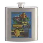 Grand Prix Auto Racing Print Flask