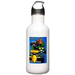 Grand Prix Auto Racing Print Water Bottle