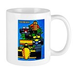 Grand Prix Auto Racing Print Mugs