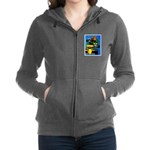 Grand Prix Auto Racing Print Women's Zip Hoodie