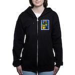 Grand Prix Auto Racing Print Women's Zip Hoodie
