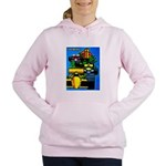 Grand Prix Auto Racing Print Women's Hooded Sweats