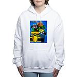 Grand Prix Auto Racing Print Women's Hooded Sweats