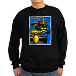 Grand Prix Auto Racing Print Sweatshirt