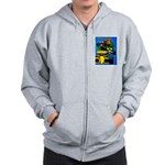 Grand Prix Auto Racing Print Zipped Hoody