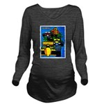 Grand Prix Auto Racing Print Long Sleeve Maternity