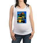 Grand Prix Auto Racing Print Maternity Tank Top