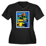 Grand Prix Auto Racing Print Plus Size T-Shirt