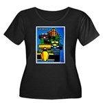 Grand Prix Auto Racing Print Plus Size T-Shirt