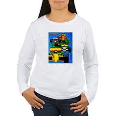 Grand Prix Auto Racing Print Long Sleeve T-Shirt