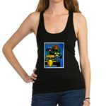 Grand Prix Auto Racing Print Racerback Tank Top