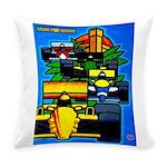 Grand Prix Auto Racing Print Everyday Pillow