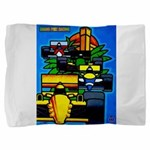 Grand Prix Auto Racing Print Pillow Sham