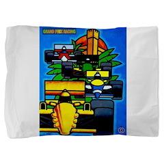 Grand Prix Auto Racing Print Pillow Sham