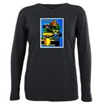 Grand Prix Auto Racing Print Plus Size Long Sleeve