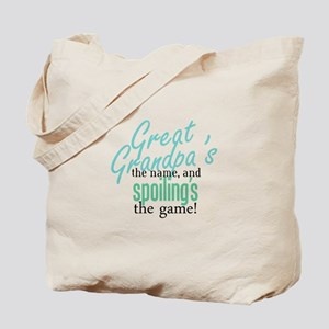 Great Grandpa's the Name! Tote Bag