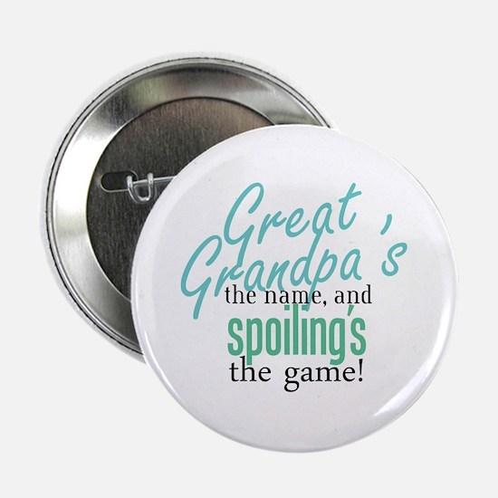 """Great Grandpa's the Name! 2.25"""" Button"""