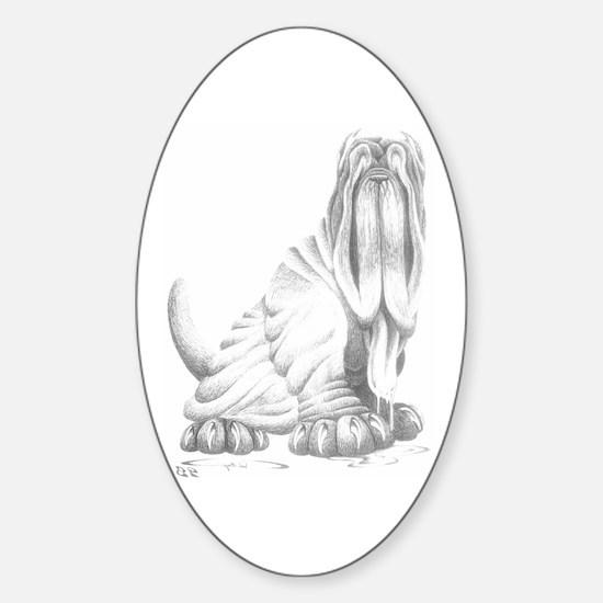 Neapolitan Mastiff Oval Decal