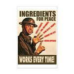 Ingredients of Peace Mini Poster Print