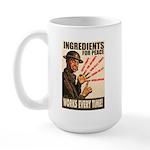 Ingredients of Peace Large Mug