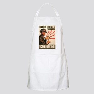 Ingredients of Peace BBQ Apron
