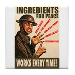 Ingredients of Peace Tile Coaster