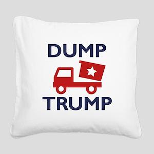 Dump Trump Square Canvas Pillow