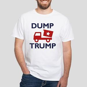 Dump Trump White T-Shirt