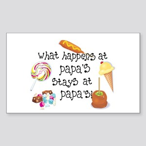 What Happens at Papa's... Rectangle Sticker