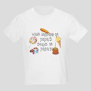 What Happens at Papa's... Kids Light T-Shirt