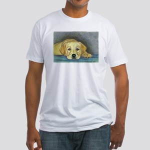 Time Out Yellow Lab Pup Fitted T-Shirt