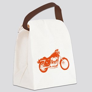 Orange Motorcycle Canvas Lunch Bag