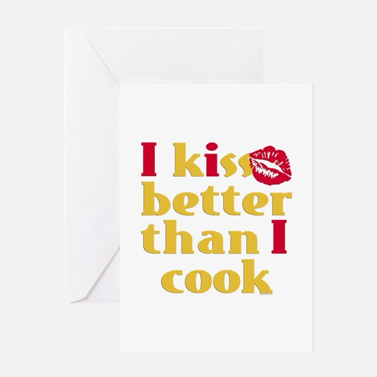 Kiss Better Than Cook Greeting Card