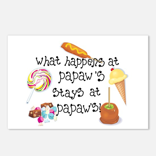 What Happens at Papaw's... Postcards (Package of 8