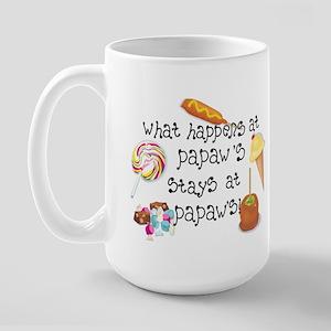 What Happens at Papaw's... Large Mug