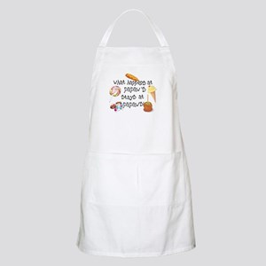 What Happens at Papaw's... BBQ Apron