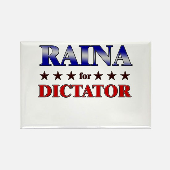 RAINA for dictator Rectangle Magnet