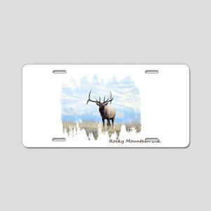 Rocky Mountain Elk Aluminum License Plate