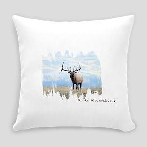 Rocky Mountain Elk Everyday Pillow