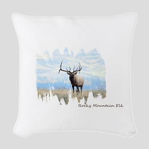 Rocky Mountain Elk Woven Throw Pillow