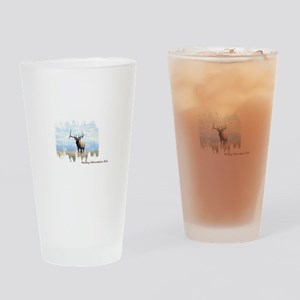 Rocky Mountain Elk Drinking Glass