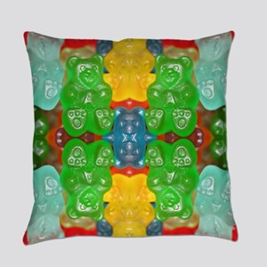 cute candy colorful gummy bear Everyday Pillow