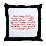 Price gouging toll lanes Throw Pillow