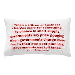 Price gouging toll lanes Pillow Case