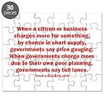 Price gouging toll lanes Puzzle