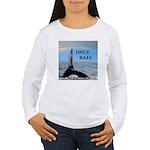 ONLY BAJA RAINBOW WHALE Women's Long Sleeve T-Shir